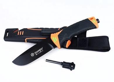 Ganzo G8012-OR Fixed Blade Knife Fire Starter