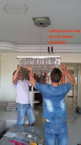 Lift Winch chandelier crystal Remote Control