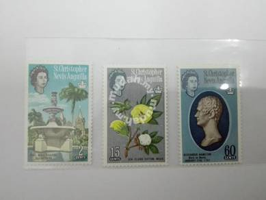 (RB 105) 1963 Nevis Stamps , Set In 3- MLH