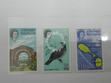 (RB 104) 1963 Nevis Stamps , Set In 3- MLH