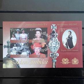 PNG 2002 Royalty Jubilee Queen m/s mnh
