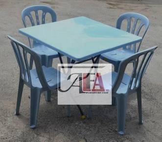 New 3x3 Meja Plastik Plastic Table lipat
