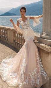 Mermaid bodycon wedding bridal dress gown RB1643