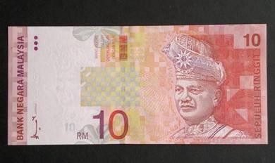 Duit Kertas RM10 8th Siri 8 Ahmad Don AD5090081