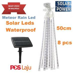 50cm Long Solar LED Meteor Shower Light Waterproof