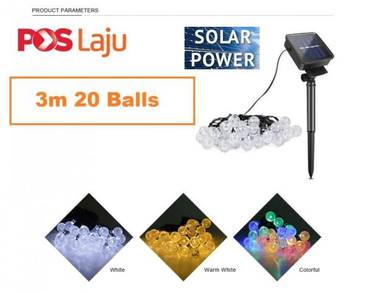 Solar String Lights 6M 40LED Crystal Ball Outdoor
