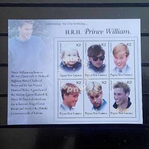 PNG2002 Prince William 21st birthday miniature mnh