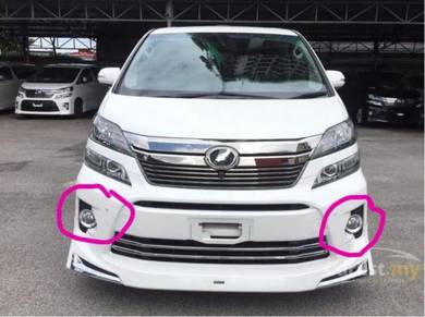 Toyota vellfire 2012 oem fog lamp cover chrome