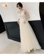 Cream wedding evening prom dress gown RBP1030