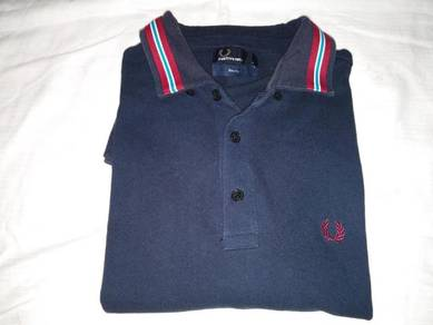 Fred Perry Navy Blue Shirt M (PL6057)