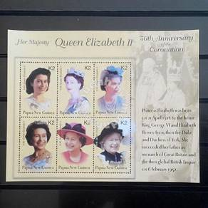 PNG 2002 Queen Elizabeth miniature sheet mnh