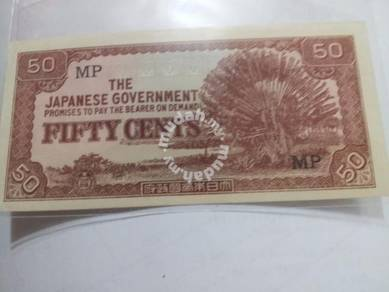 Duit Lama Japan Malaya 50 cents Prefix MP