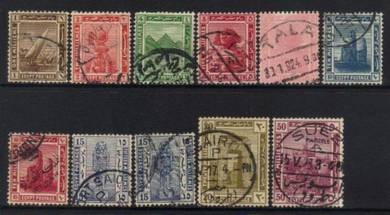 Egypt 1921-1922 definitives used cat 25+ bk90