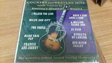 LP Piring Hitam Vinyl Country & Western