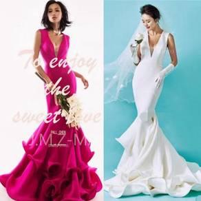 Pink white wedding bridal prom dress gown RBP0485