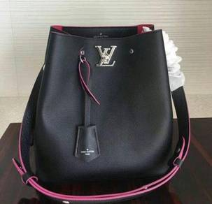 Louis Vuitton Calfskin Lockme Bucket Bag