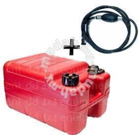 24L Marine Boat Fuel Tank w/Fuel Hose petrol 4x4