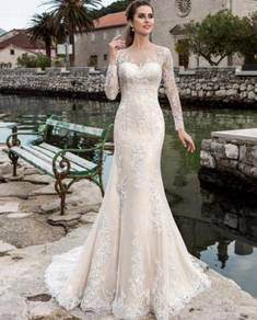 Long sleeve wedding bridal dress gown RB1642