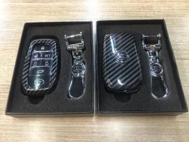 Toyota vellfire alphard 30 remote key cover carbon