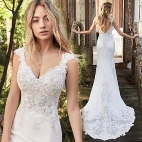 White mermaid wedding bridal dress gown RB2116