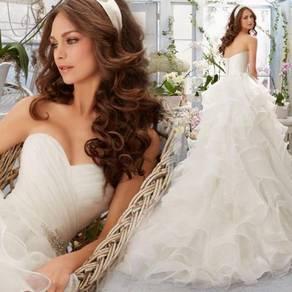 White fishtail wedding bridal dress gown RB2117