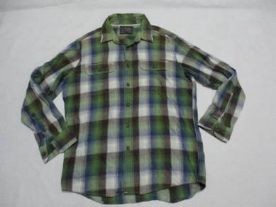 Uniqlo Green Flannel Long Sleeve 3 L (Kod LS3127)
