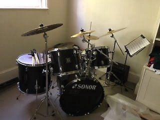 Sonor flip 5 piece drum kit