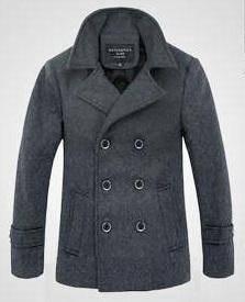 Grey Woolen Blazer Windbreaker Suit Coat Jacket