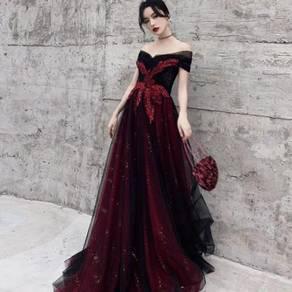 Red glitter prom wedding bridal dress gown RBP1508