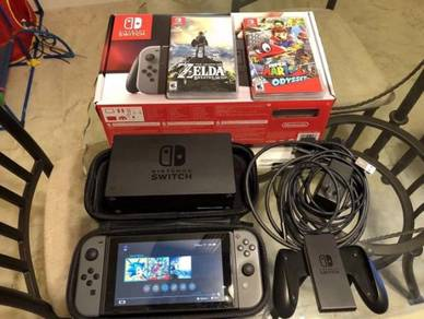 Nintendo Switch - 32GB Gray Console With Games And