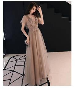 Nude wedding evening prom dress gown RBP1029