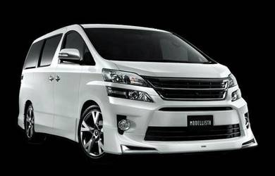 Toyota vellfire 2012 facelift front skirt body kit