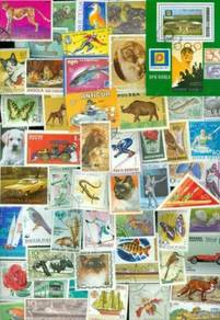 World stamps mixture thematic all big size 100 pcs