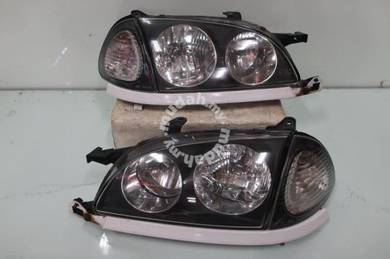 Toyota Caldina ST215 Head Lights Lamps Lampu BLACK