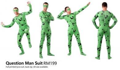 Question Costume Lycra Zentai Suit