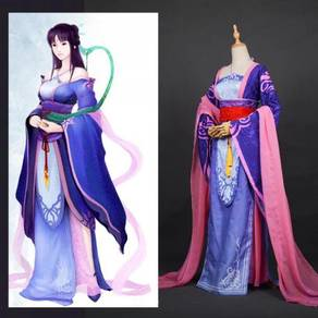 Purple cosplay costume dress medieval RB0437