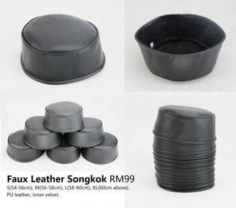 Faux Leaather Songkok