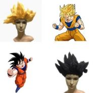 Dragon ball Goku super saiya cosplay wig