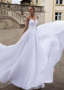 White fishtail wedding bridal dress gown RB1639