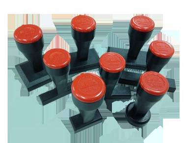 Rubber Stamp (Red Rubber)