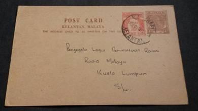 Postcard KOTA BHARU 1954 No 1629 RARE