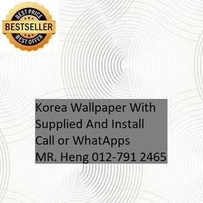 Korea wall Paper with installation 82LK