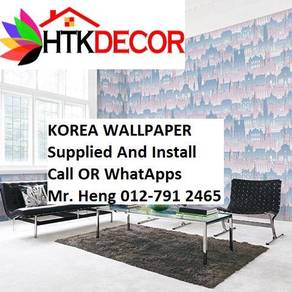 Wall paper Install at Living Space D387w