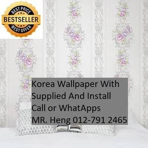 Pretty Wall covering with Installation 40IH
