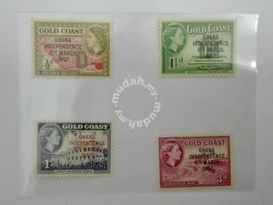 (RB 108) 1957 Gold Coast QE II Stamps x 4
