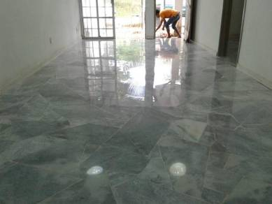 Varnish Parquet and Terrazzo/Marble