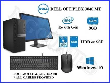 Dell optiplex core i5-6th gen complete set