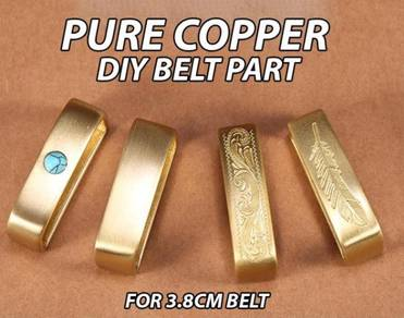 Pure Brass Belt Part DIY 3.8cm Strap
