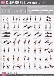 Dumbell barbell gym poster