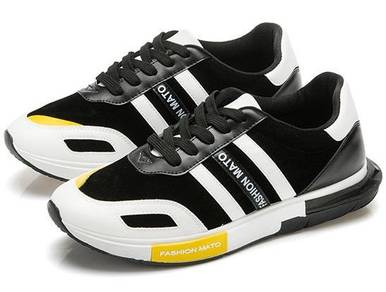 M0249 Mixed Black White Sneaker Casual Sport Shoes